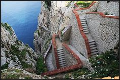The amazing view from Escala del Cabirol - Alghero, Sardinia
