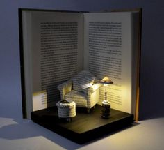 These book sculptures are AMAZING! http://danikastone.tumblr.com/post/130993343402/fybookbinding-whitesparrowbindery…