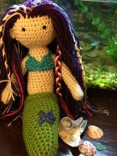 Crocheted Mermaid doll by BuffaloDolltique on Etsy