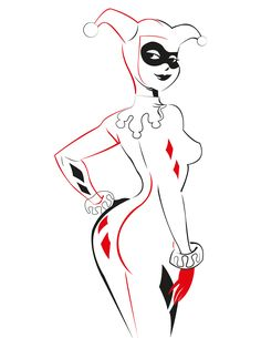 Harley Quinn Tribal Created by Fabio Barrios