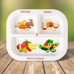 Perfect plate to teach healthy balance and portions. Stacks great in your cupboard or drawer!