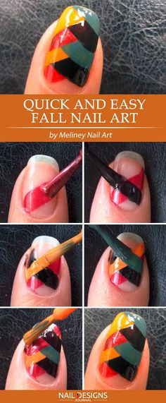 Fall Fishtale Nail Art ❤️ Want some easy nail designs to do at home and stop spending money at nail salons? We will show you how to create them in few steps.❤️ See more: naildesignsjourna. pedicure at home steps Nail Designs Easy Diy, Best Nail Art Designs, Fall Nail Designs, Diy Nail Designs Step By Step, Nail Art Cute, Nail Art Diy, Diy Nails, Nail Art At Home, Manicure