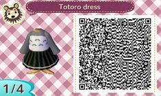 QR code for My Neighbor Totoro dress in Animal Crossing New Leaf