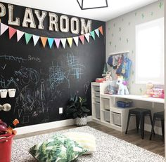 Chalk board wall play room ideas в 2019 г. chalkboard wall p Chalkboard Wall Playroom, Chalk Wall, Chalk Board, Chalkboard Stickers, Toddler Playroom, Playroom Design, Playroom Ideas, Kids Room Organization, Toy Rooms