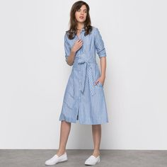 Striped cotton shirt dress Atelier R  | La Redoute