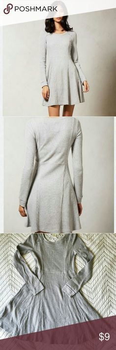 ANTHROPOLOGIE ELOISE GREY LOUNGE DRESS (S) Anthropolgie Eloise grey waffle knit  long sleeve dress. Dress has small hole in back (see last pic) can easily be sewn. Anthropologie Intimates & Sleepwear
