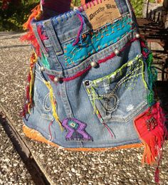 Love+Peace+Hippie+Hobo+Denim+Bag++Disc+by+recycleinstead+on+Etsy