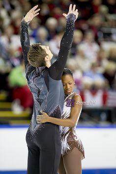James and Cipres Roller Skating, Ice Skating, Figure Skating, Mixed Couples, Cute Couples, Beautiful Family, Beautiful Black Women, Vanessa James Morgan Cipres, Skate