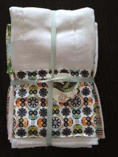 DIY how to make boutique style burp cloths  $3.50 a piece!