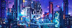 天猫国潮来了 •非遗猫公仔|三维|场景|幻视vision - 原创作品 - 站酷 (ZCOOL) Futuristic Interior, Futuristic City, Art Test, Warcraft Art, Neon Wallpaper, Zodiac City, Ads Creative, Matte Painting, Environment Concept