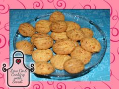 Cheese Crookies - cross between a cracker and a cookie, texture and taste of a cheese cracker, but the look and shape of a cookie - 5 Crookies are 2g  net carbs / Low Carb Cooking with Sandi