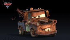 """My favorite Pixar characters: Mater. """"Its like tuh-mater, but without the tuh! Tow Truck, Trucks, Los Cars, Cars 2 Movie, Pixar Movies, Disney Movies, Tow Mater, Vinyl Banners, Disney Pixar Cars"""