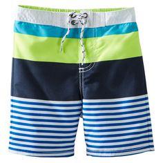Colorblock Striped Swim Trunks   OshKosh B'gosh