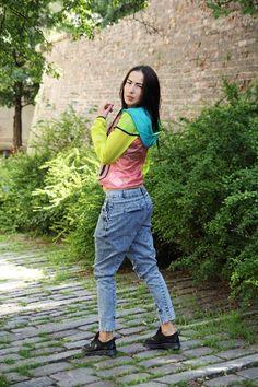 runfashion wearing denim pants by madox design