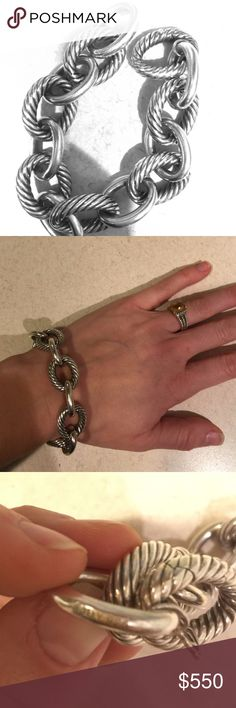 David Yurman Extra Large Oval Link Bracelet Authentic. Preowned. Lightly worn. Excellent condition. It will come with original case and certification of authenticity. Beautiful, classic piece. David Yurman Jewelry Bracelets
