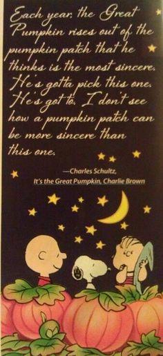 """The Great Pumpkin"" ~ the most sincere pumpkin patch...."