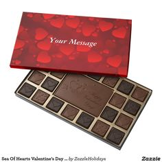 Sea Of Hearts Valentine's Day Chocolates 45 Piece Assorted Chocolate Box