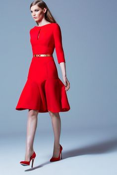 ELIE SAAB PRE-FALL 2013  #Poppy Red