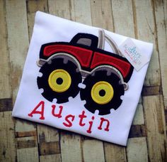 Monster Truck Shirt by LillysBowtique on Etsy, $23.00