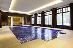 Luxe inbouw zwembad in huis