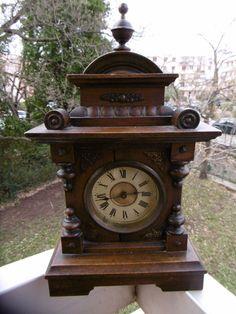 Pendule horloge ancienne xixe oeil de boeuf napol on iii marqu sign voir vendre for Grande pendule en bois
