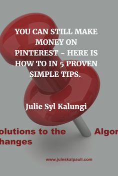 Can I ask you a question? How is your Facebook Fan Page Reach doing for your blog traffic and sales? Great I hope you said! But I doubt. Here are My Proven steps to Still Make money via Pinterest! http://juleskalpauli.com/how-to-make-money-on-pinterest/