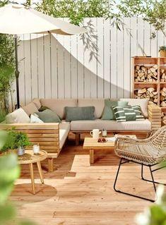 Terrace Design, Patio Design, House Design, Outdoor Dining, Outdoor Spaces, Outdoor Decor, Diy Patio, Backyard Patio, Garden Furniture