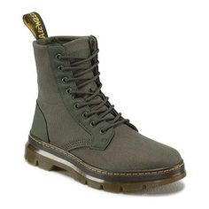 Dr. Martens Combs 8-Eye Boot Olive (Green) Extra Tough Nylon/Rubbery (UK 3  (US Wms 5, Mns 4) M (Regular))