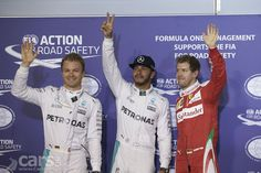 Lewis Hamilton has taken pole position for the 2016 Bahrain Grand Prix, just 0.077 seconds ahead of Mercedes team mate Nico Rosberg.
