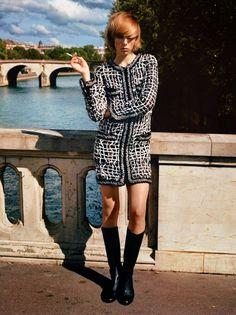 """""""Edie in Paris"""" Edie Campbell by Alasdair McLellan for Vogue Paris September 2014"""