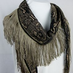 Flapper Fringe Necklace Scarf  fun art by MyBirdsongDesigns, $44.00