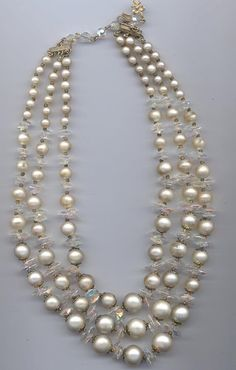 This lovely necklace is signed Vendome. A high-end subsidiary of Coro, the Vendome line was made from 1944 to 1979, succeeding Corocraft. Vendome jewelry,