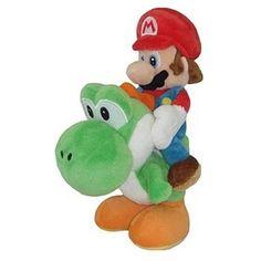Nintendo Official Super Mario Plush - Mario and Yoshi Plush, 8-Inch