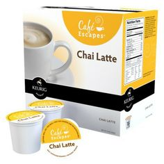 Café Escapes Chai Latte Keurig K-Cups, 16 Count... Someone please buy this for me. It's so delicious. :)