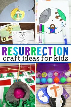 Religious Easter Resurrection Crafts about Jesus