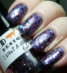 Red Dog Designs I Want A Hippopotamus For Christmas over Dandy Nails Cashmere Night