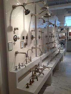 Waterworks Heritage plumbing wall including Etoile, Olympia, Julia, Aero and more!