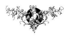 Stock image HD by Pepin Press Graphic Ornament Tattoo Sketches, Tattoo Drawings, Body Art Tattoos, Small Tattoos, Tattoo Flash Art, Tatoo Art, Pretty Tattoos, Cool Tattoos, Cherub Tattoo