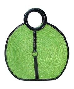 Take a look at this Kiwi Circle Straw Satchel on zulily today!
