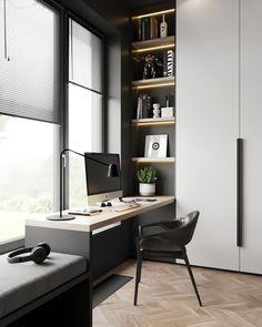 Study Room Design, Room Design Bedroom, Home Room Design, House Design, Design Design, Design Ideas, Modern Office Design, Office Interior Design, Office Interiors
