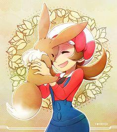 """I Love EIEVUI"" Pokemon fanart by wataame    #Pokemon"