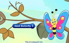 Butterfly Life Cycle video- there are many other interactive lessons (personal hygiene, five senses, number counting, animals etc.)- www.cookie.com