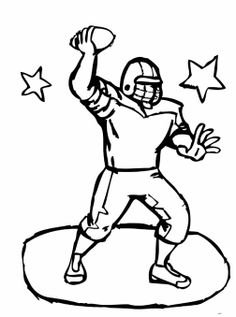 Football Player Coloring Page | Football players, Worksheets and Craft