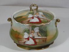 Sun-Bonnet Babies, Covered Jar, by Royal Bayreuth.