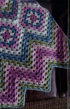 Items similar to Crochet baby blanket crochet baby afghan granny square handmade baby blanket new baby nursey decor pretty pastel colors FAST SHIPPING on Etsy Point Granny Au Crochet, Crochet Ripple, Crochet Diy, Crochet Afgans, Baby Afghan Crochet, Crochet Motifs, Crochet Quilt, Crochet Blocks, Crochet Squares
