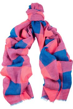 Marc by Marc Jacobs|Stacey checked linen-blend scarf