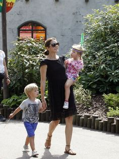 Crown Princess Mary and Crown Prince Frederik visited Legoland in Billund with their children