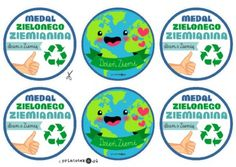 Medal z okazji Dnia Ziemi - Printoteka.pl Kids And Parenting, Diy And Crafts, Chart, Education, Speech Language Therapy, Manualidades, Onderwijs, Learning