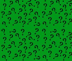 question_in_green fabric by cindersonfiber on Spoonflower - custom fabric
