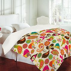 Add a fun, whimsical touch to your bedroom decor with the Deny Designs Valentina Ramos Little Birds Duvet Cover . Available in your choice of prints. Owl Bedding, Teen Boy Bedding, Bedroom Decor For Teen Girls, Teenage Girl Bedrooms, Cheap Bedding Sets, Bedding Sets Online, Yves Delorme, For Elise, Little Birds